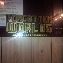 Forgotten Worlds sign